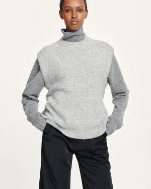 Samsoe & Samsoe Nor Vest Grey Melange