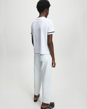 Calvin Klein Embroidery Tipping T-shirt Bright White