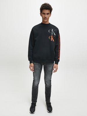 Calvin Klein Cotton Blend Sweatshirt Black