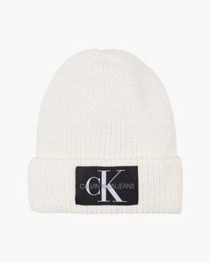 Calvin Klein Mohair Blend Beanie Bright White