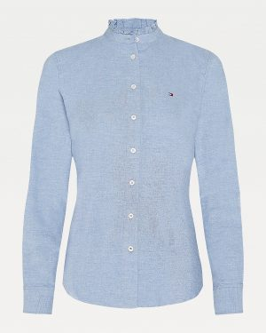 Tommy Hilfiger Ruffled Collar Shirt Daybreak Blue