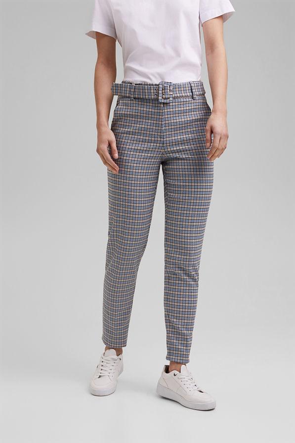Esprit Check Pants Pastel Blue