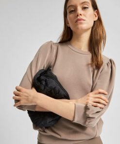 Selected Femme Tenny 3/4 Sweatshirt Fossil