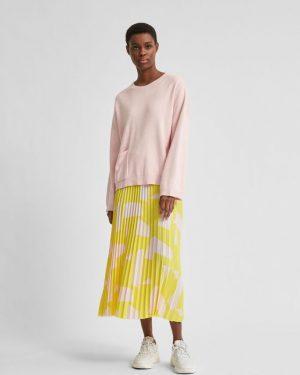 Selected Femme Cille Knit Pocket Jumper Blushing Bride