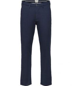 Selected Homme Linen Pants Dark Sapphire