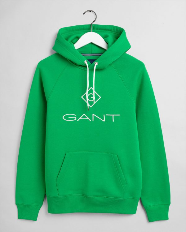 Gant Lock Up Hoodie Fern Green