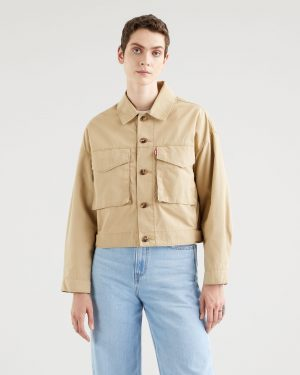 Levi´s Loose Fit Cargo Jacket Soft Structure Incense