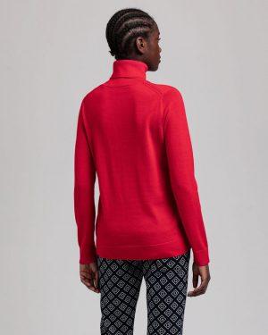 Gant Woman Merino Turtle Neck Bright Red