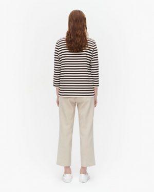 Marimekko Ilma Tasaraita T-shirt Brown