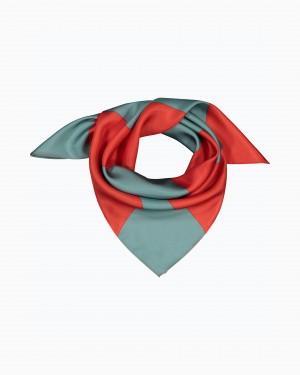 Marimekko Tyrsky Taifuuni Silk Scarf Red/Blue