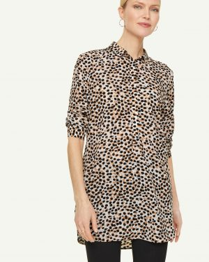 Comma, Blouse Tunic Brown