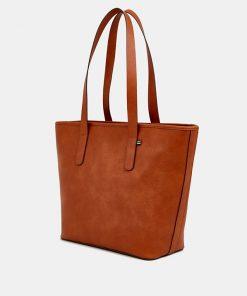 Esprit Tote Bag Rust Brown