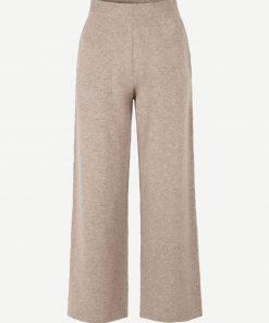 Samsoe & Samsoe Amaris Straight Trousers Khaki Melange