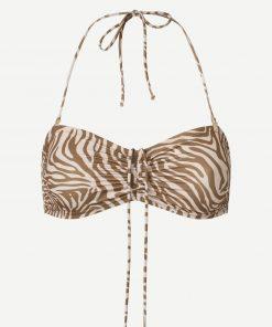 Samsoe & Samsoe Gytea Bikini Top Mountain Zebra