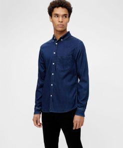 J.Lindeberg Soft Stretch Slim Shirt Mid Blue