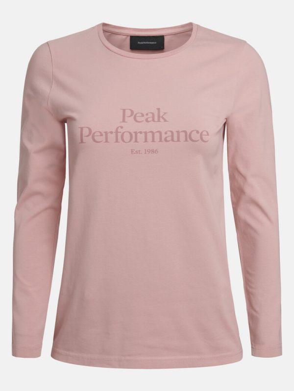 Peak Performance Original Long Sleeve Women Warm Blush