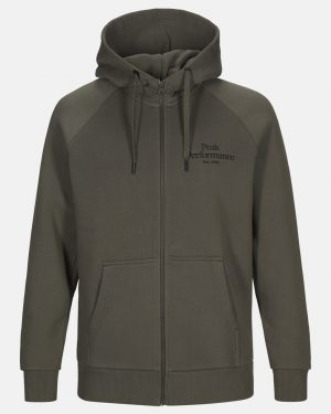 Peak Performance Original Zip Hood Men Black Olive
