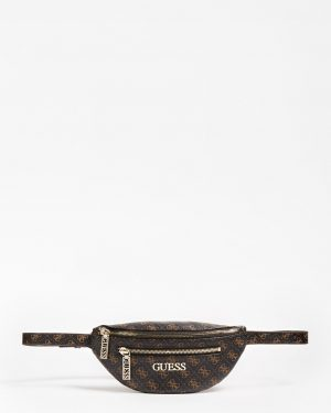Guess Manhattan Belt Bag Brown Brown
