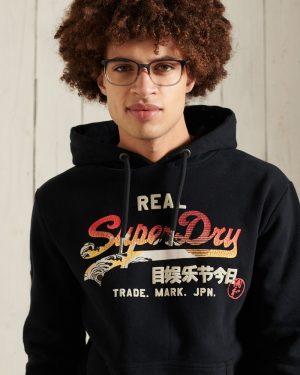Superdry Vintage Label Itago Hood Black