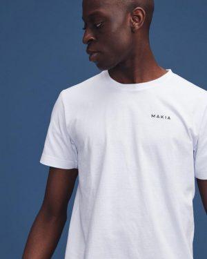 Makia Trim Backprint T-shirt White