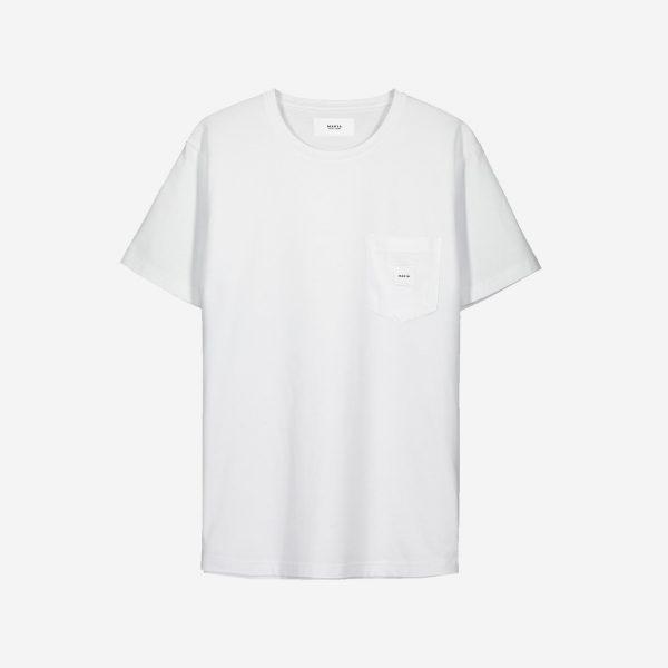 Makia Square Pocket T-shirt White