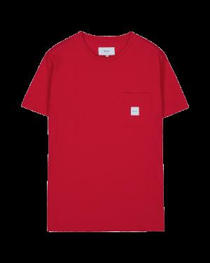 Makia Square Pocket T-shirt Red