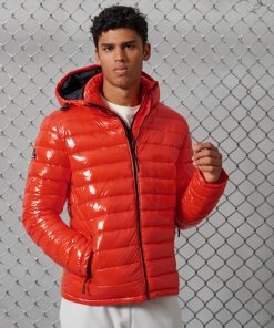Superdry High Shine Hooded Fuji Cherry Tomato