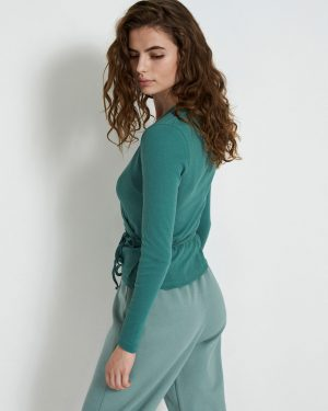 Envii Enally Long Sleeve V-Neck Tee Blue Spruce