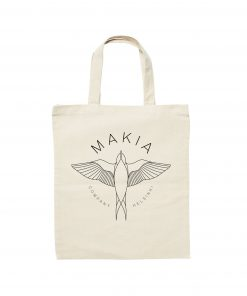 Makia Swallow Tote Bag White