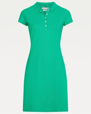 Tommy Hilfiger Slim Fit Polo Dress Primary Green