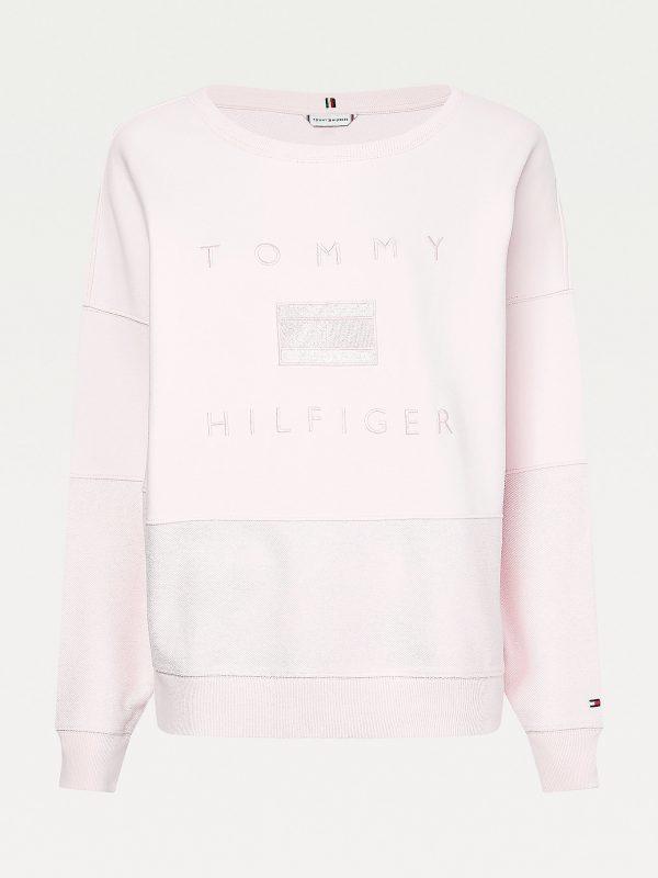 Tommy Hilfiger Relaxed Tonal Logo Sweatshirt Light Pink