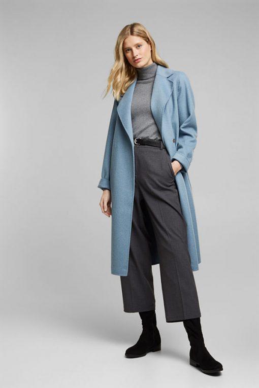Esprit Woolen Coat Light Blue