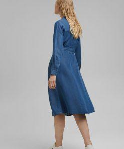 Esprit Tencel Dress Medium Blue Wash