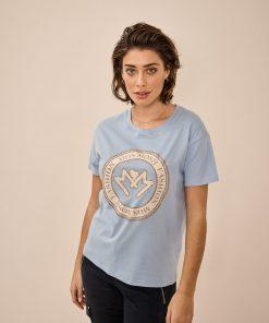 Mos Mosh Leah O-SS T-shirt Bel Air Blue