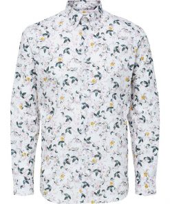 Selected Homme Willy Aop Shirt White