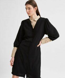 Selected Femme Emira Short Dress Black