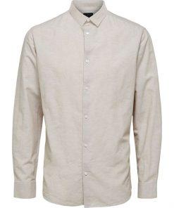 Selected Homme New Linen Shirt Crockery