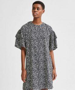 Selected Femme Carla Dress Black