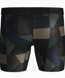 Björn Borg Per BB Textured Block Shorts Duck Green