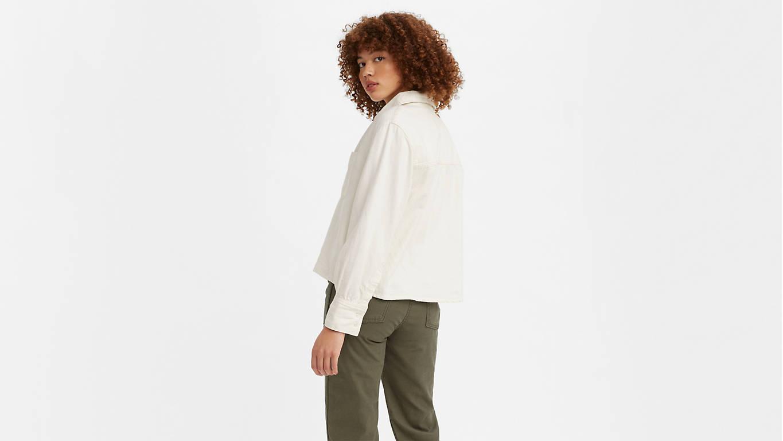 Levi´s Zoey Pleat Shirt Ecru