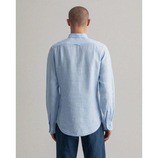 Gant Slim Linen Shirt Capri Blue