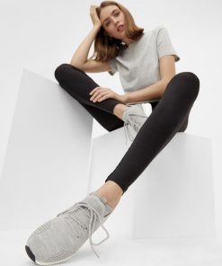 Bianco Biadelana Knit Sneakers Light Grey Melange