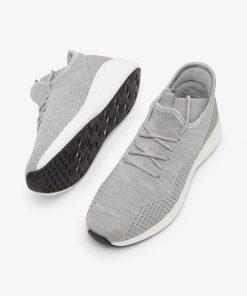 Bianco Biadelana Knit Sneakers Light Grey Melange