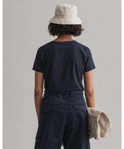 Gant Woman Basic T-shirt Evening Blue