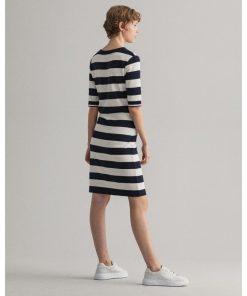 Gant Striped Jersey dress Evening Blue