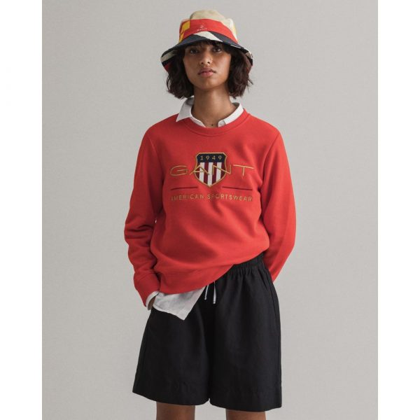 Gant Woman Archive Shield C-Neck Lava Red