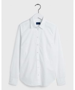 Gant Woman Solid Stretch Shirt White