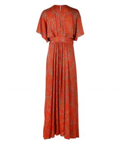 Stenströms Victoria Floral Long Dress Orange
