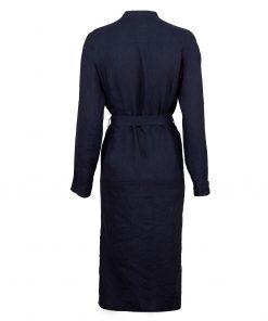 Stenströms Anette Linen Dress Navy