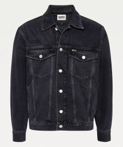 Tommy Jeans Oversize Trucker Jacket Black